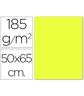 Cartulina 50x65cms 25h 185grs amarillo limon guarro 200040220