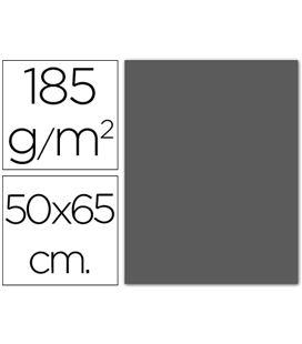 Cartulina 50x65cms 25h 185grs gris plomo guarro 200040244