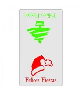 Etiqueta rollo felices fiestas 300u. pryse 3280081 - 37930
