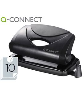 Taladro 2 agujeros 10 hojas negro q-connect kf01233 - 25515