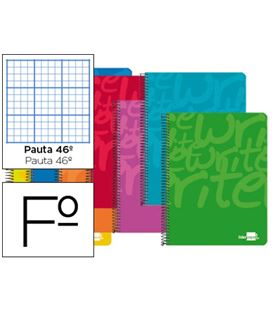 Cuaderno fº nº46 80h 60grs surtido liderpapel 51994