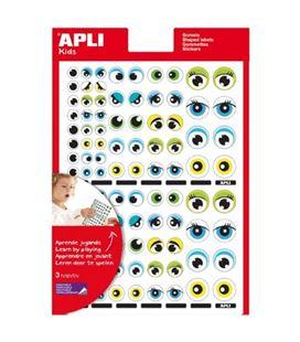 Gomets bolsa etiquetas ojos 3h apli 13854
