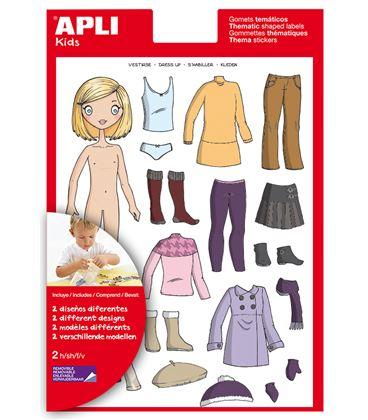 Gomet bolsa etiquetas vestirse niña 2h apli 13352 - 112417