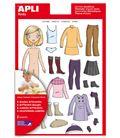 Gomets bolsa etiquetas vestirse niña 2h apli 13352