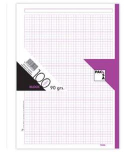 Recambio a4 4 anillas 5x5 100h 90grs violeta pacsa 21046