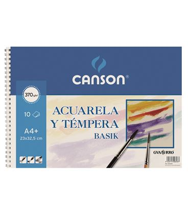 Cuaderno dibujo acuarela basik a3+ 370grs 10h guarro 200400697 - 230245