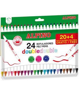 Rotulador escolar doble double alpino c.20+4 alpino ar002058n