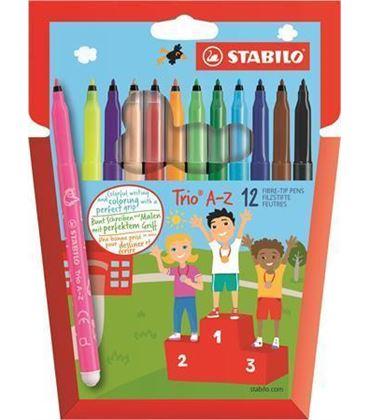 Rotulador escolar trio az c.12 stabilo 378/1-12-01 - 378-1-12-02