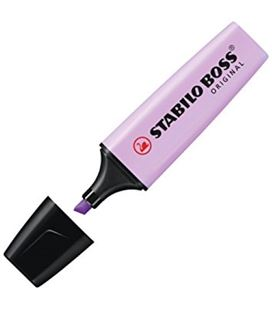 Marcador fluorescente lila pastel boss original stabilo 70/155