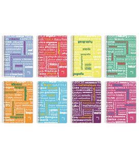 Cuaderno folio 4x4 80h 90grs pp idiomas pacsa 16523