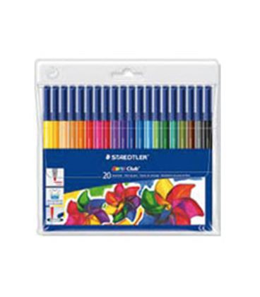 Rotulador fibra noris club 326 20 colores staedtler 326 wp20 - ST326WP20