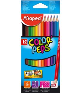 Pintura madera 12 colores color peps maped 183212 - 183212_PA_BOX