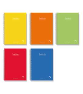 Cuaderno espiral cuarto 4x4 80h 60grs tapa dura color pacsa 16733