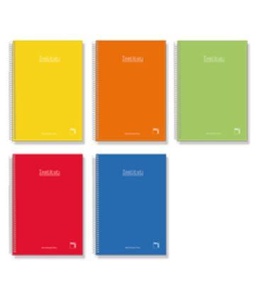 Cuaderno espiral cuarto 4x4 80h 60grs tapa dura color pacsa 16733 - PC16733