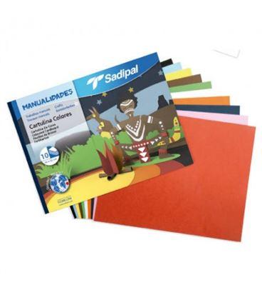 Cartulina bloc 10h colores surtidos sadipal 05980 - 113880