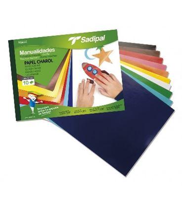 Papel charol bloc 10h colores sadipal 05977 - 113879
