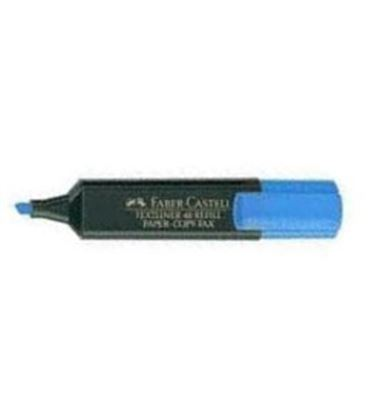 Marcador fluorescente azul textliner faber 154851 548515 - FC48A