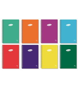 Cuaderno espiral cuarto 4x4 80h 60grs tapa color pacsa 16428