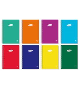 Cuaderno espiral fº 4x4 80h 60grs tapa color serie pacsa 16418 - PC16418