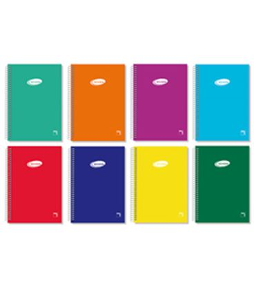Cuaderno espiral folio 4x4 80h 60grs tapa color serie pacsa 16418 - PC16418