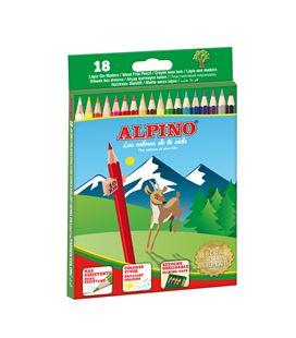 Pintura madera c.18 alpino al000656