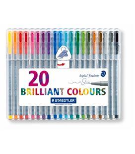 Boligrafo boli roller fineliner 334 estuche 20 colores staedtler 334 sb20 - 334 SB20
