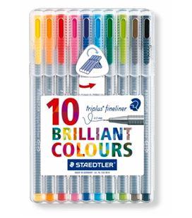 Rotulador fineliner estuche 10 colores staedtler 334 sb10