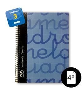 Cuaderno 4º 3mm 80h 70g tapa dura azul lamela 7cte003a 797063 - 7CTE003A