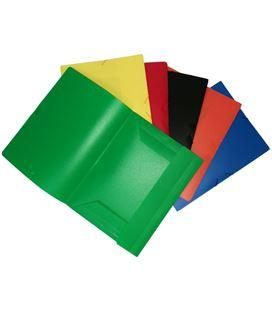 Carpeta folio gomas solapas pp colores surtidos saro 821