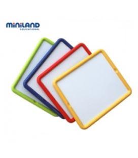 Pizarra doble cara metalica (tiza y rotulador) miniland 979301