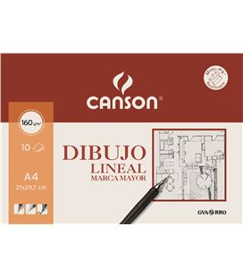 Papel dibujo lineal liso a4 10h 160grs marca mayor guarro 200409784