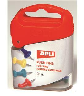 Agujas señalizadoras campanas push-pins cj.25ud. surtidas apli 12349