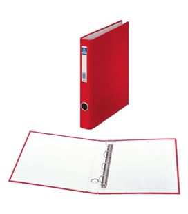 Carpeta 4an-25mm a4 rojo carton foliorrado oficolor dohe 90162