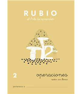 Cuaderno escolar operaciones nº2 rubio 10952 - CALCULO 2 CASTELLANO