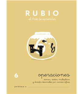 Cuaderno escolar operaciones nº6 rubio 10960 - CALCULO 6 CASTELLANO-1 COPIA