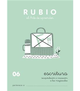 Cuaderno escolar escritura 06 rubio 10919
