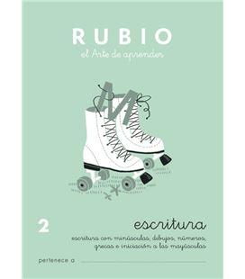 Cuaderno escolar escritura 2 rubio 10925