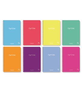Cuaderno foliolio 80hj 90g liso mrg t/pp plastipac surtido pacsa 16567 - 113969