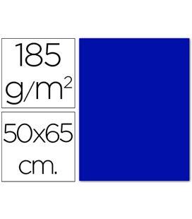 Cartulina 50x65cms 25h 185grs azul ultramar guarro 200040235