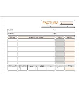 Talonario factura 4º apaisado 50h original+2copias loan t-66 430662