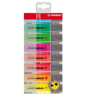 Marcador fluorescente estuche 8 colores boss stabilo 70/8 - 191587