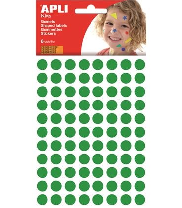 Gomet bolsa circulo pequeño 10,5mm verde apli 13233 - 112375