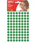 Gomet bolsa circulo pequeño 10,5mm verde apli 13233