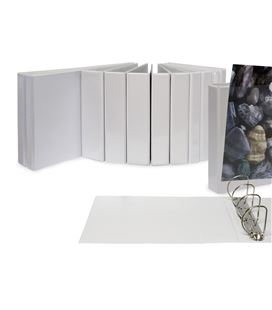 Carpeta canguro 4 anillas a4 25mm blanca grafoplas 02695570