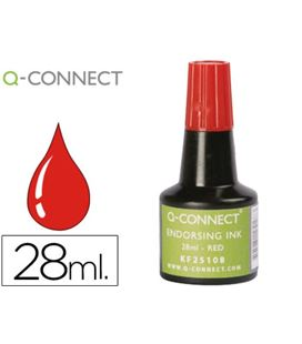 Tinta sellar 28ml aplicador frasco rojo q-connect kf25108 52392