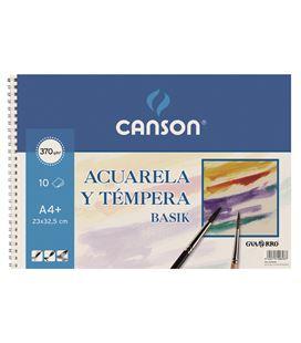 Cuaderno acuarela liso basik a4 10h 370g guarro 200400698