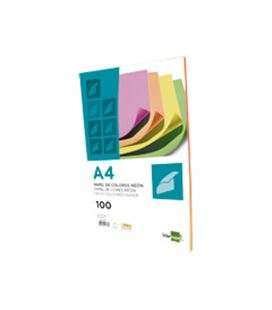 Papel a4 100h color fluorescente surtido liderpapel pc45 - CS44573