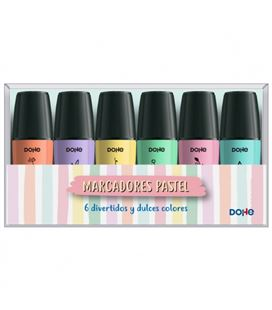 Marcador fluorescente mini surtido pastel 6 colores dohe 79602