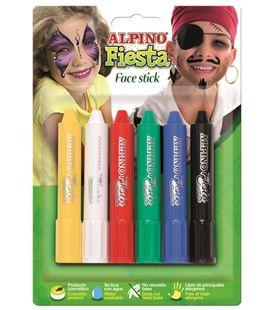 Pintura de cera maquillaje surt.6 face stick alpino dl000014