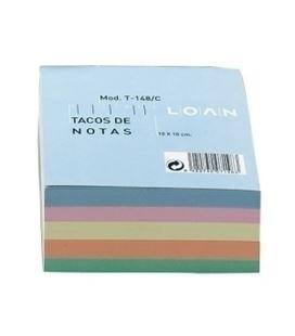 Taco papel colores 500h enc 100x100mm loan t148c - 26901266
